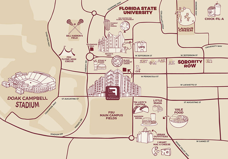 Map of The Nine at Tallahassee